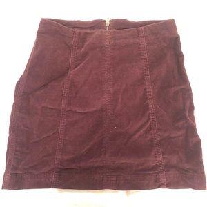 Free People Femme Vegan Suede Mini Skirt